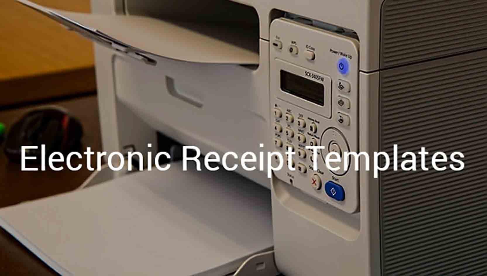 Sample Electronic Receipt Electronics Receipt Receipt Template