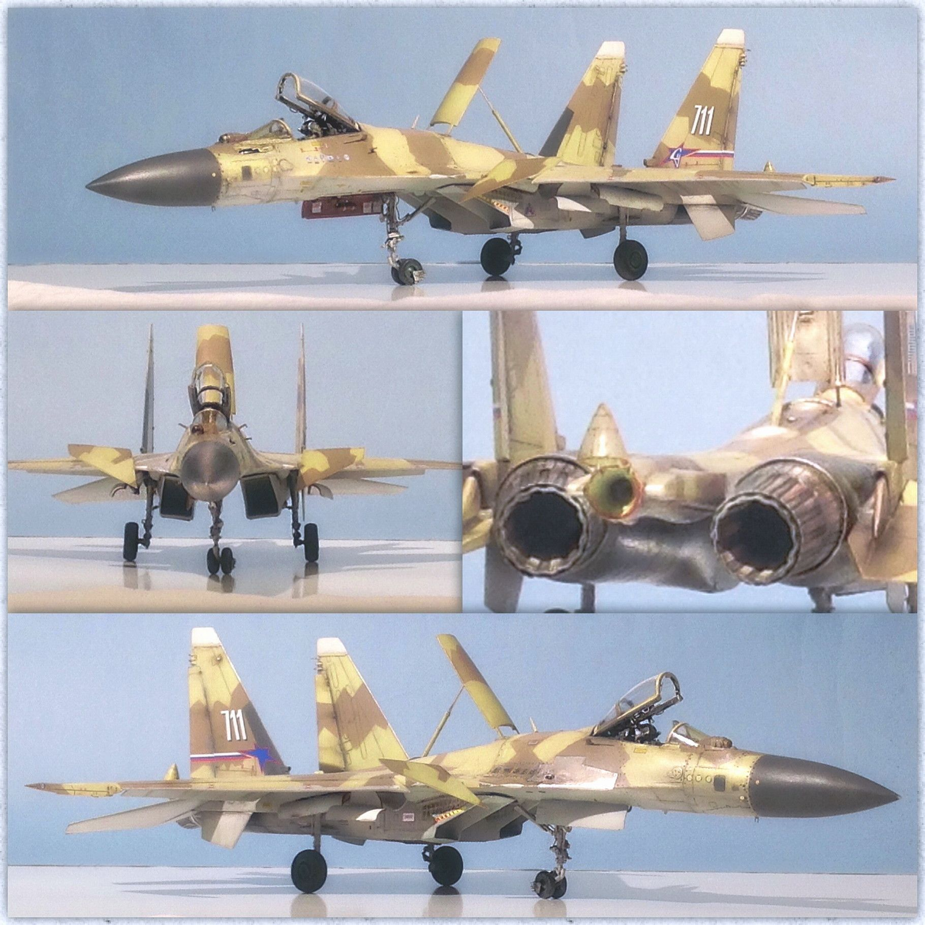 "Sukhoi Su 37 ""Terminator""(Academy Kit) 1:48 Scale Model"