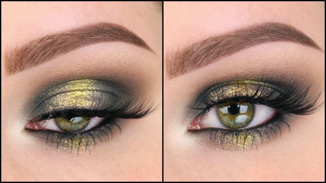 green & gold fall smokey eye - youtube | abh subculture