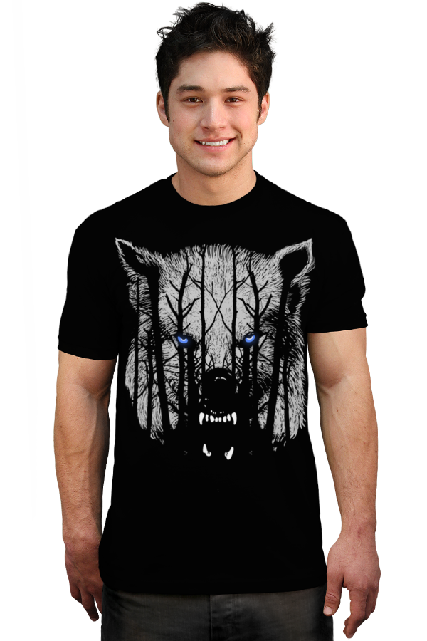 White Wolf T-shirt by expo from Design By Humans