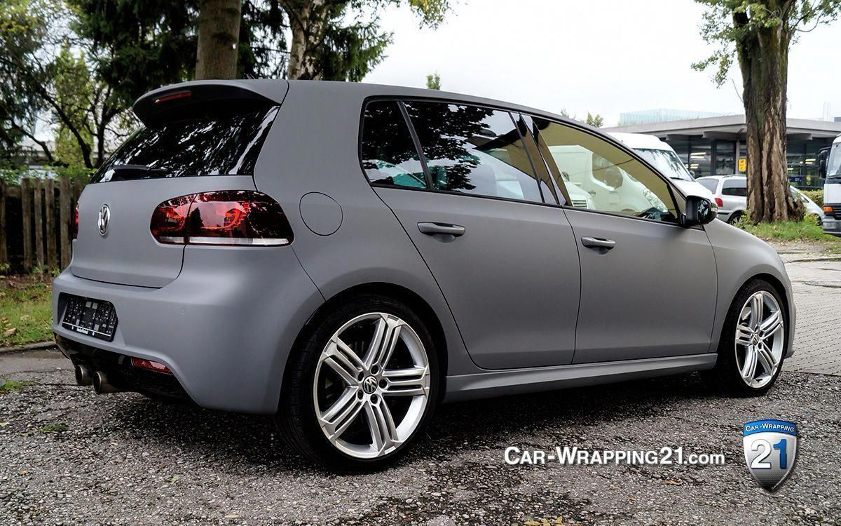 Vw Golf Gti Folie Grau Matt Volkswagengti Volkswagengolfmk6 Vw Golf Golf Car Volkswagen Golf