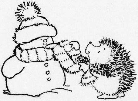 Lindas Imágenes de Muñecos de Nieve para Colorear. | BORDADOS - 2 ...