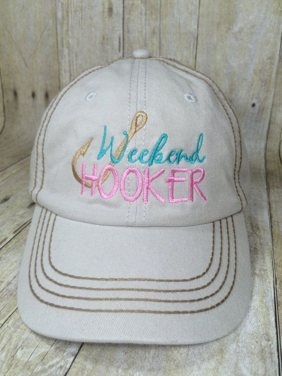 6a033ca2e02cc Weekend Hooker Baseball Cap Ladies Fishing Hat by SewFancyByPaige ...