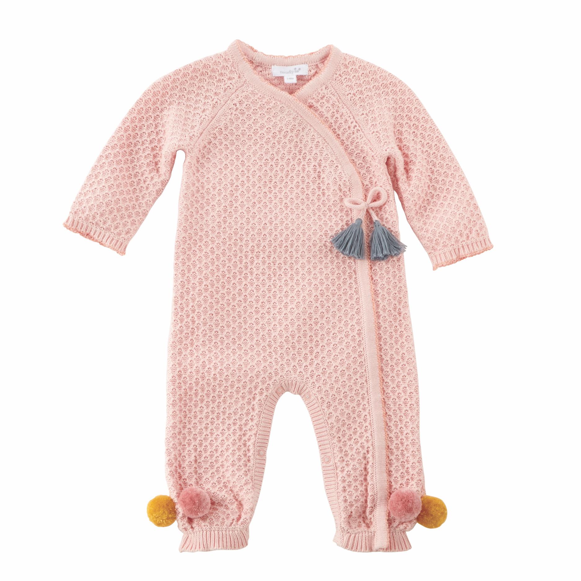This Blush Pointelle Knit Kimono-style One-piece Features