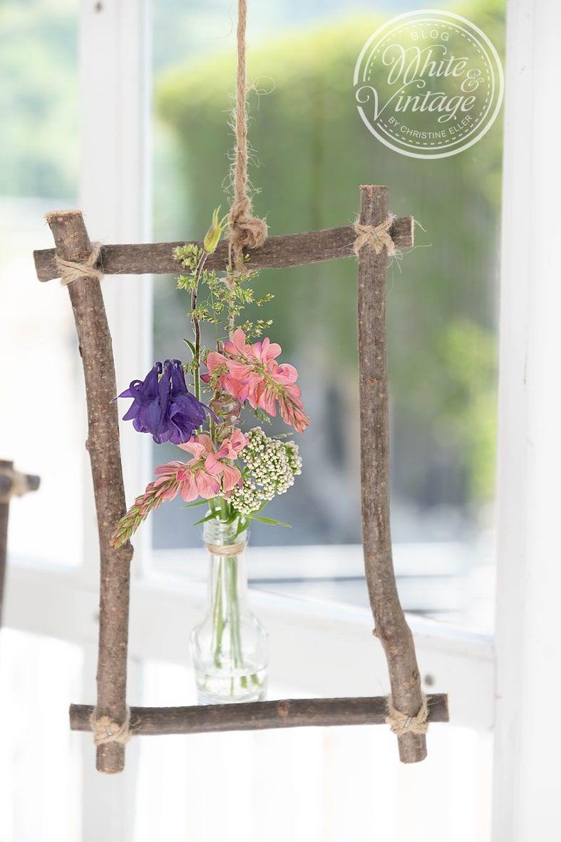 Diy Fruhlingsleichte Fensterdeko Blumenarrangements Diy Deko Blumen Basteln Ideen Sommer