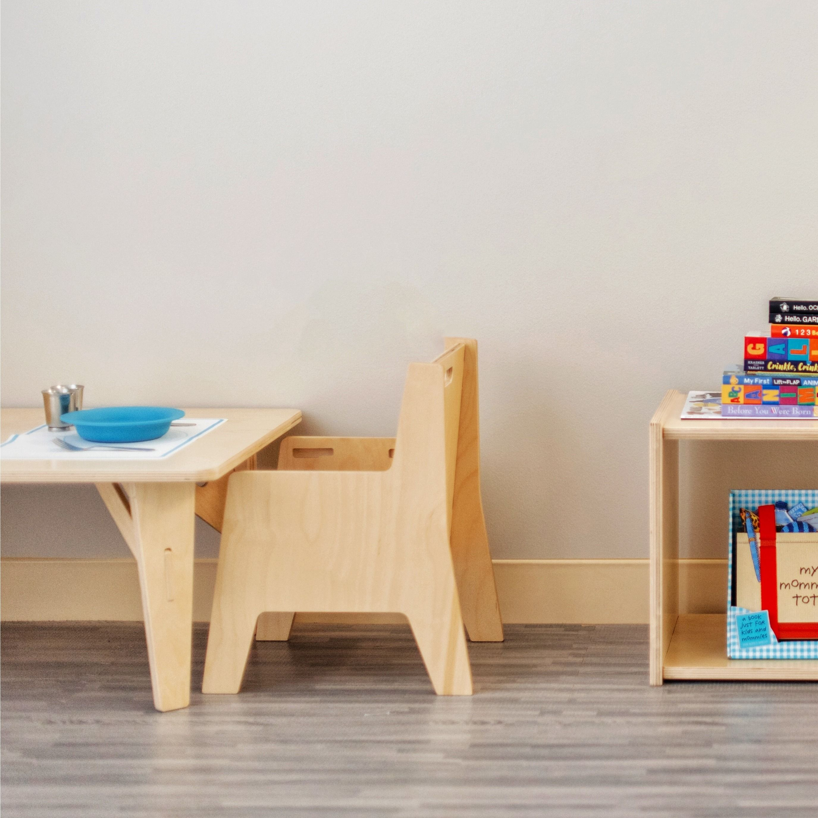 Weaning Table Chair And Infant Shelf Toddler Table Toddler Table And Chairs Toddler Furniture