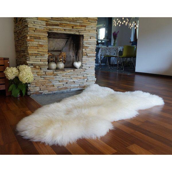 Original Giant Xxl White Genuine Natural Sheepskin Rugs Exclusive
