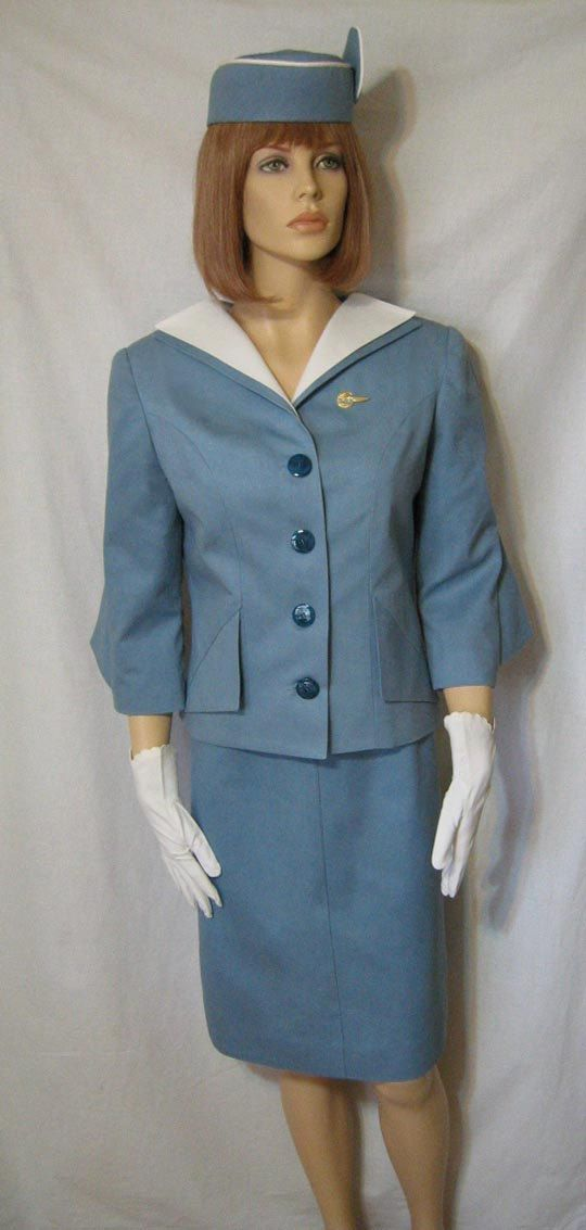 debdb282ddc Reproduction Vintage 1963 PAN AM STEWARDESS Uniform
