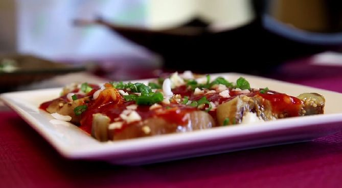 Chilli Garlic Eggplant #Foodlve #Chili #Garlic #Eggplant #Recipe