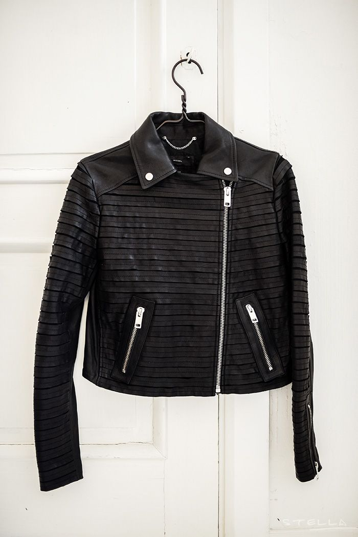 Diesel leather jacket. Photo by Stella Harasek - Notes on a life.