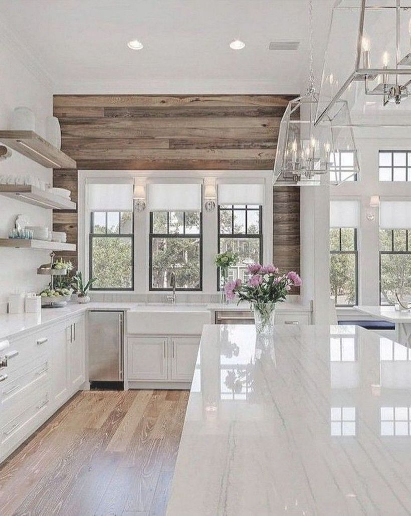 65 Beautiful Modern Farmhouse Kitchen Design Ideas for Your Dream House - decori...