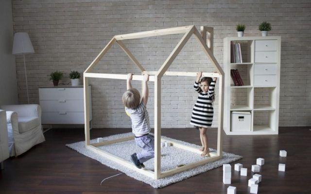 Parfait Fabriquer Lit Cabane Bois Massif Chambre Enfant