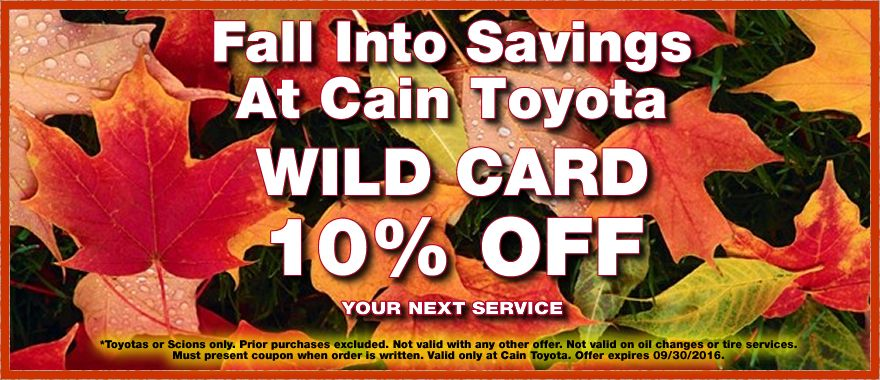 Save 10 on the service of your choice with our Wild Card