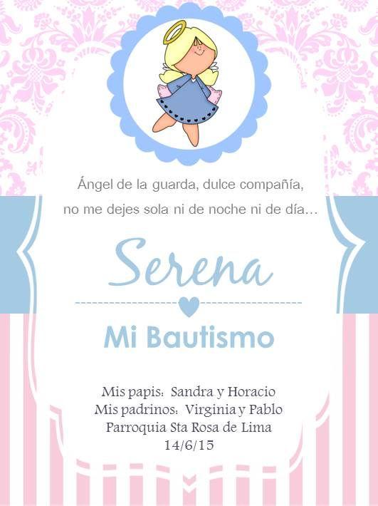 Pin De Valerio Suarez En Bautizo Y Otros Invitaciones