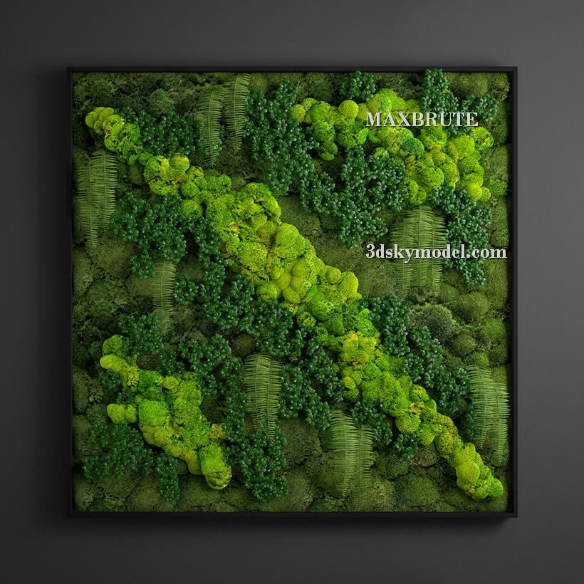 Vertical Garden 3D Model Free Download Decorative Garden 400 x 300