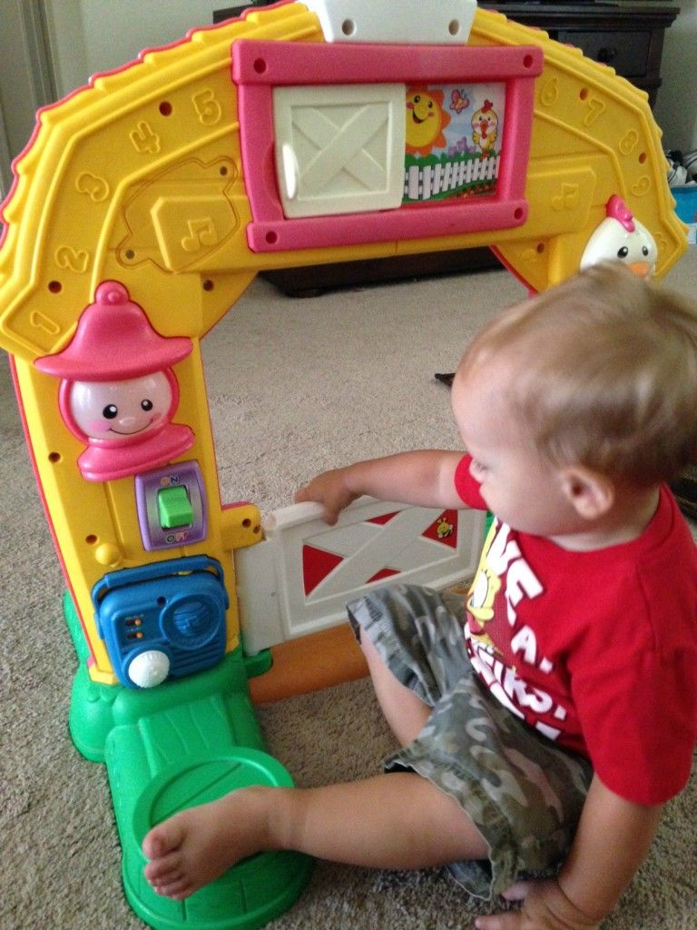 We got the Fisher-Price Laugh & Learn Barn! It's so much ...