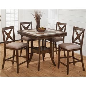 Tucson Brown Square Pub Table Collection With Tile Details   Available At  Laineyu0027s Furniture, Vacaville, CA