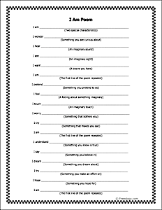 where i am from poem template - students could use this i am poem template to describe