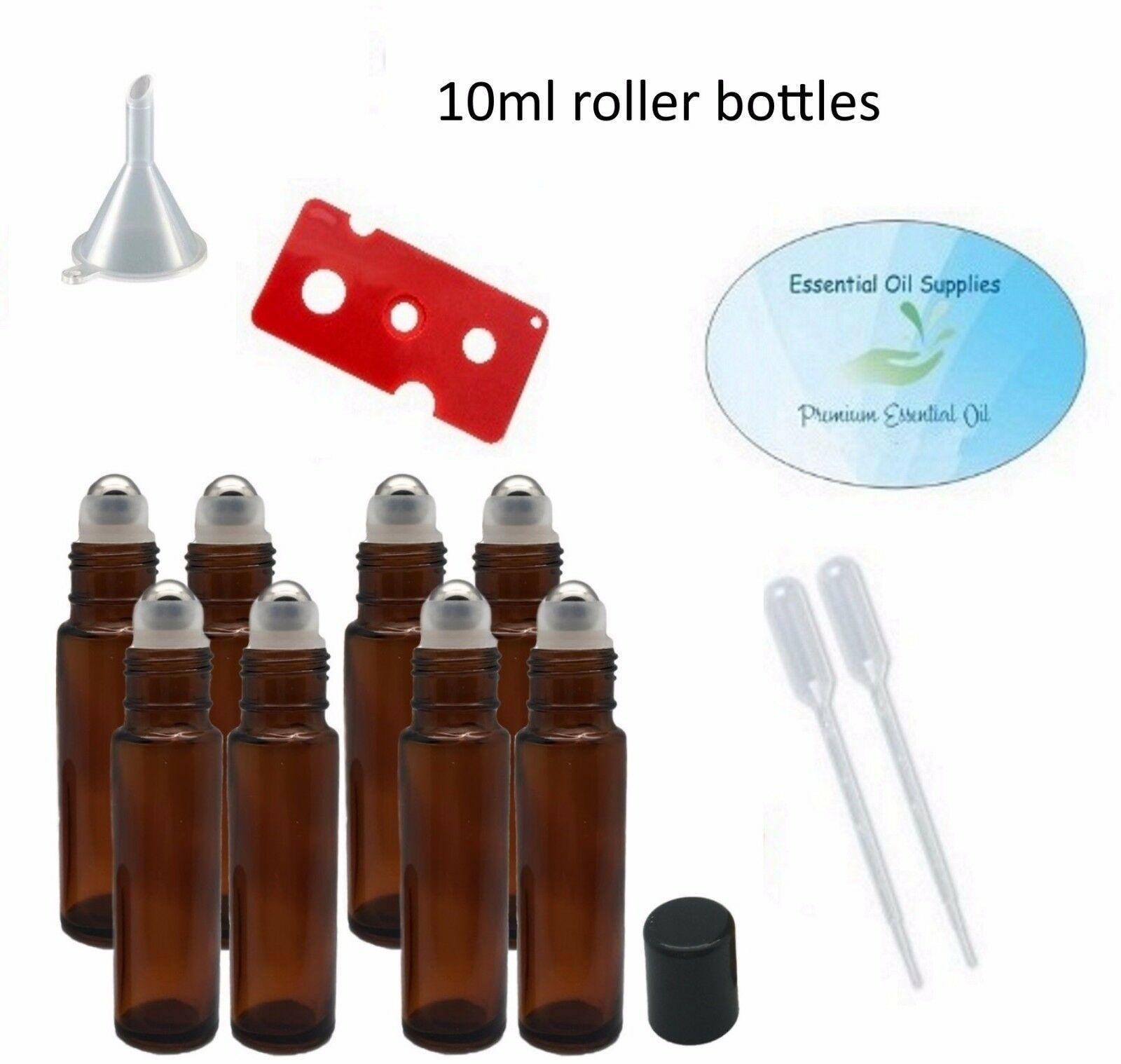 10ml Amber Roller Bottles With Steel Balls Funnel Pipettesessential Oil Opener Amber Bottles Ideas Of Am Amber Bottles Roller Bottle Essential Oil Supplies