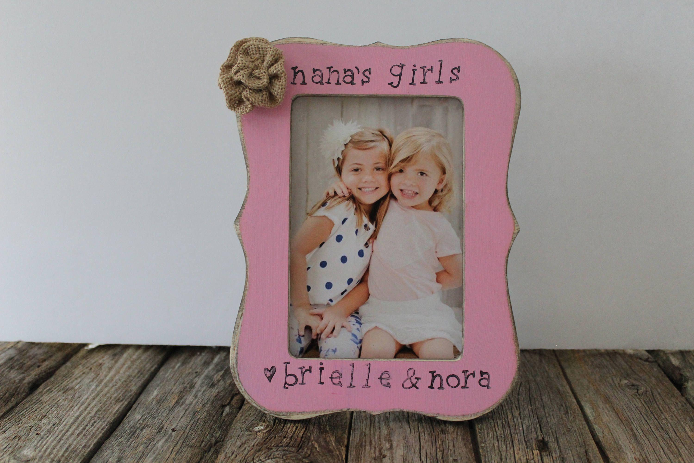 nanas girls picture frame personalized nana frame grandma gigi memaw gift mothers day gift 4x6 frame - Nana Frame