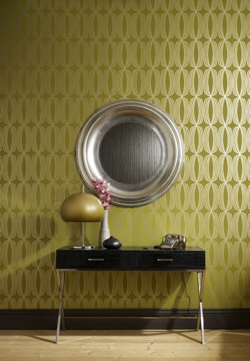 Tapete Grun Gold Wallpaper Pinterest Tapeten Tapete Flur And