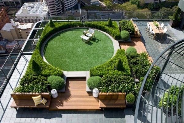 Terrasse aus holz gestalten gemutlichen ausenbereich  Dachterrasse gestalten - Ihre grüne Oase im Außenbereich | Garden ...