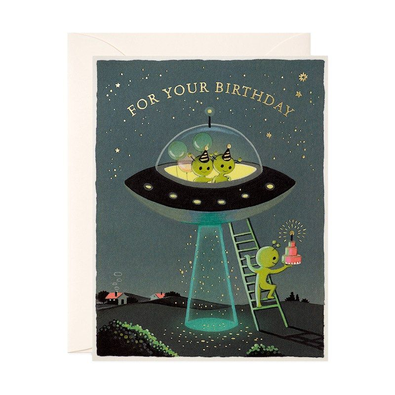 Aliens birthday card birthday cards cards birthday