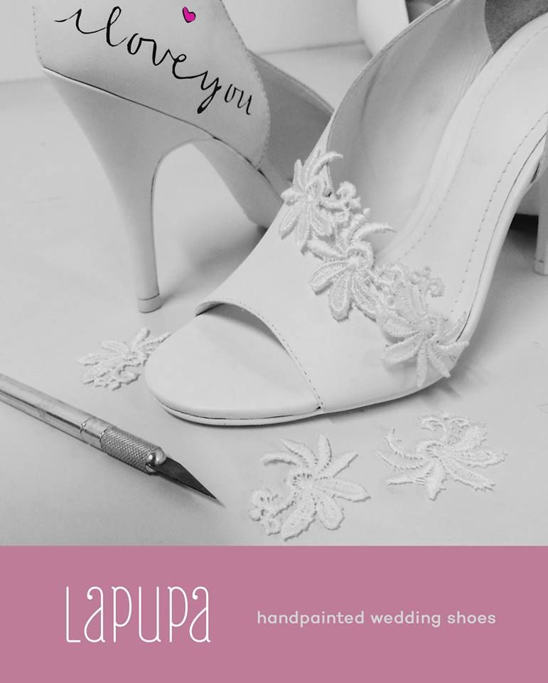 Wedding shoes ♥ Bride shoes ♥ Sapato de noiva ♥ #bride #weddingshoes #shoes #handmade #handpainted #bride #vestidodenoiva #art #artshoes #brideshoes #weddingshoes #noiva #sapatodenoiva #wedding #inspiration #design #designshoes #bridal #bridalshoes #casamento #sapatos #sapato #Iloveyou #luvu #euteamo  www.lapupa.com.br