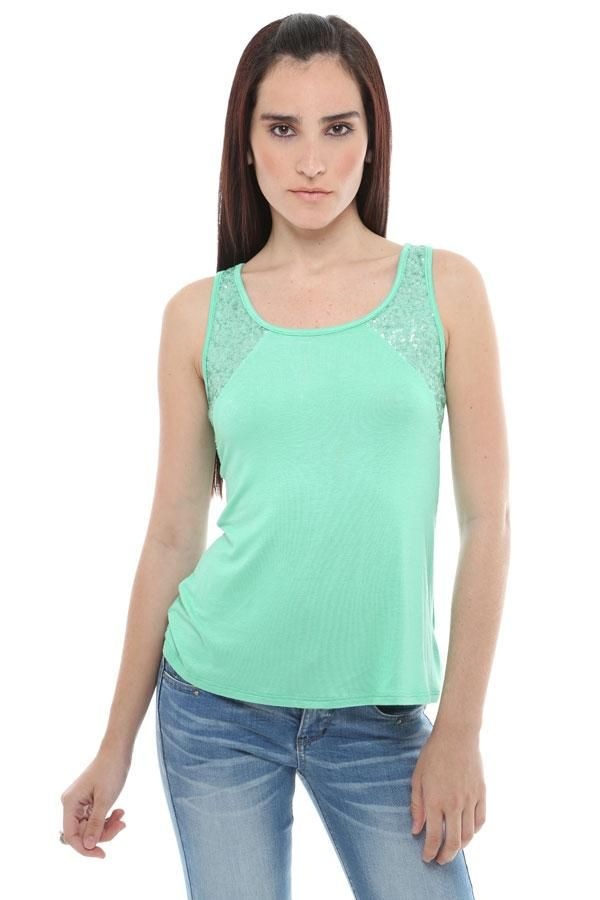 Tank Top with Sequin $12