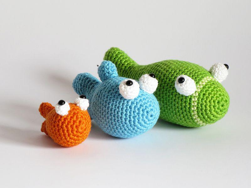 Amigurumi For Dummies Book : E book 3 fische häkelanleitung amigurumi crochet dolls and crochet