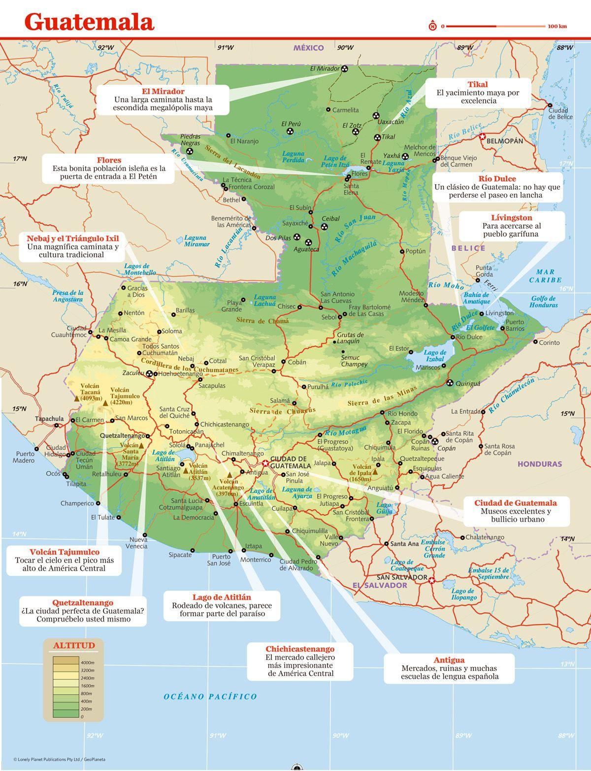 Mapas Da Guatemala Guatemala Map Map Screenshot