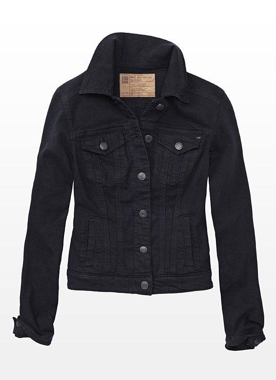 ef166bb837cb1 Black Denim Jacket - Garage
