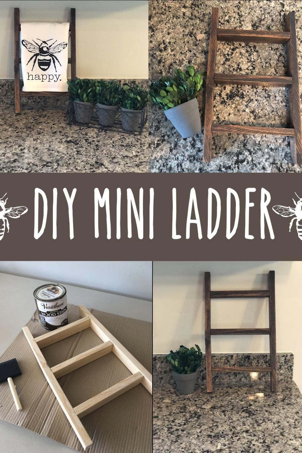 Photo of DIY Mini Ladder Great For Tea Towels