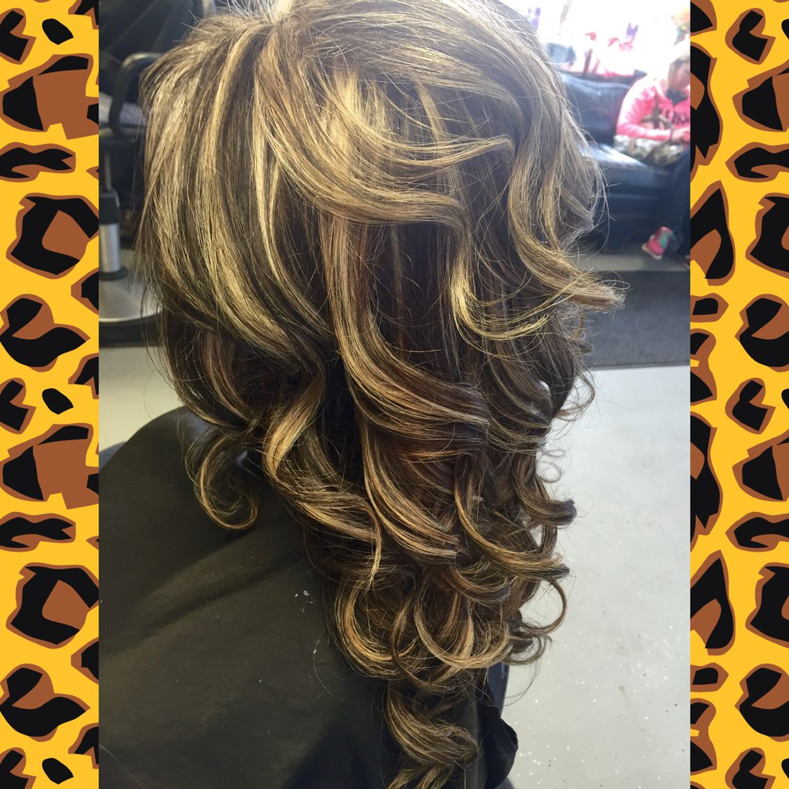 Brown Hair With Lots Of Blonde Highlights Kenra Color Long Curly