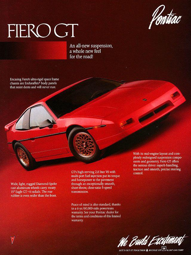 Pontiac Ad For The 1988 Fiero Gt Pontiac Fiero Gt Pontiac Fiero Pontiac Cars