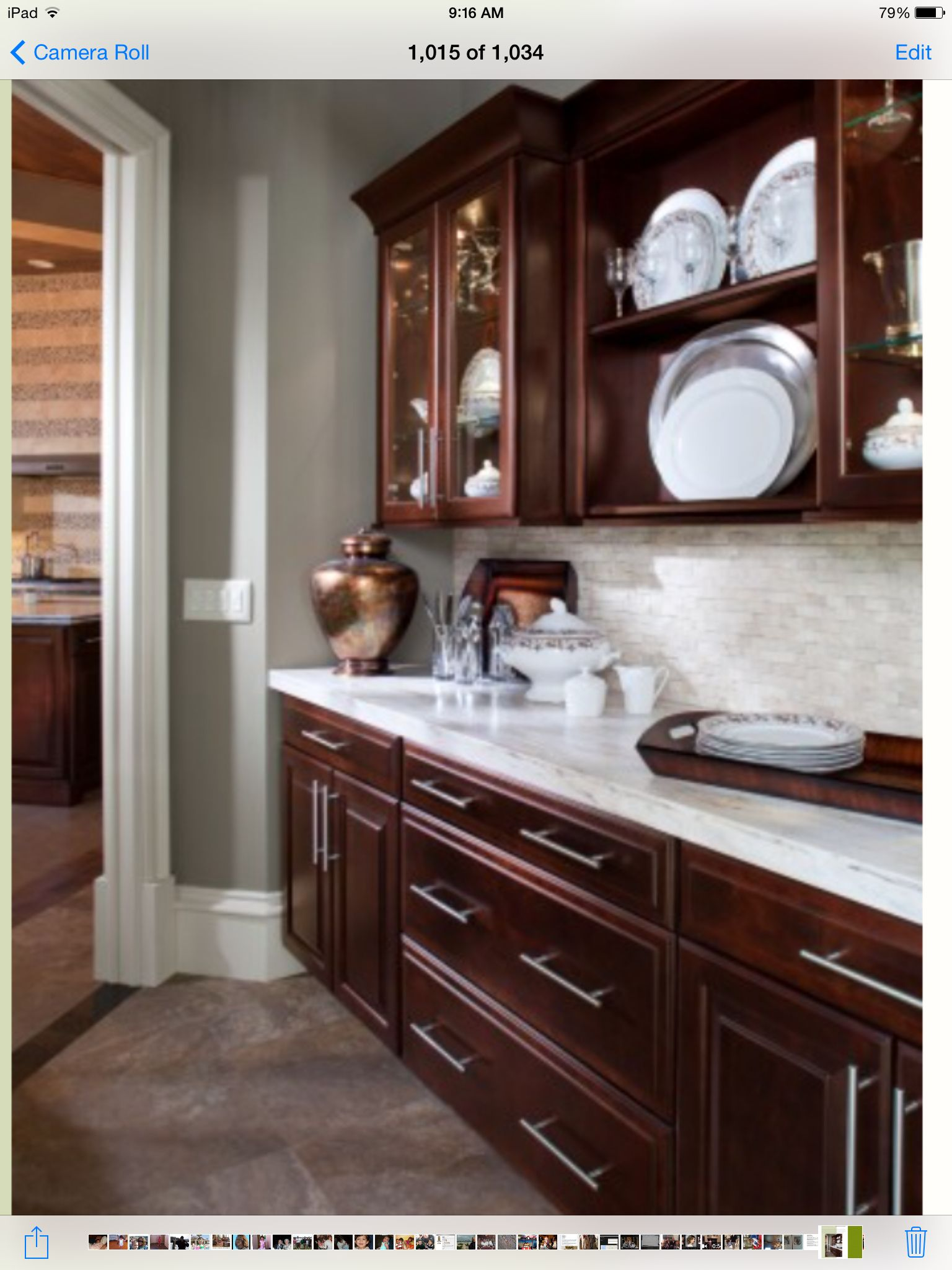 Best Butler Pantry Brown Kitchen Cabinets Cherry Wood 400 x 300