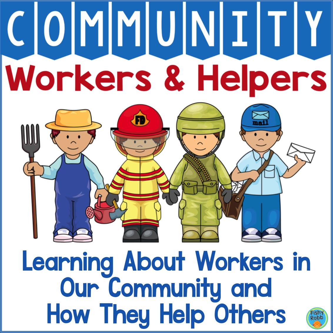Community Workers And Helpers Kindergarten Prek With