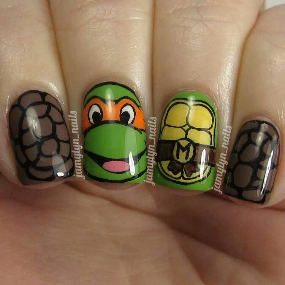 Teenage Ninja Turtles nails | Nails and Designs | Pinterest | Ninja ...