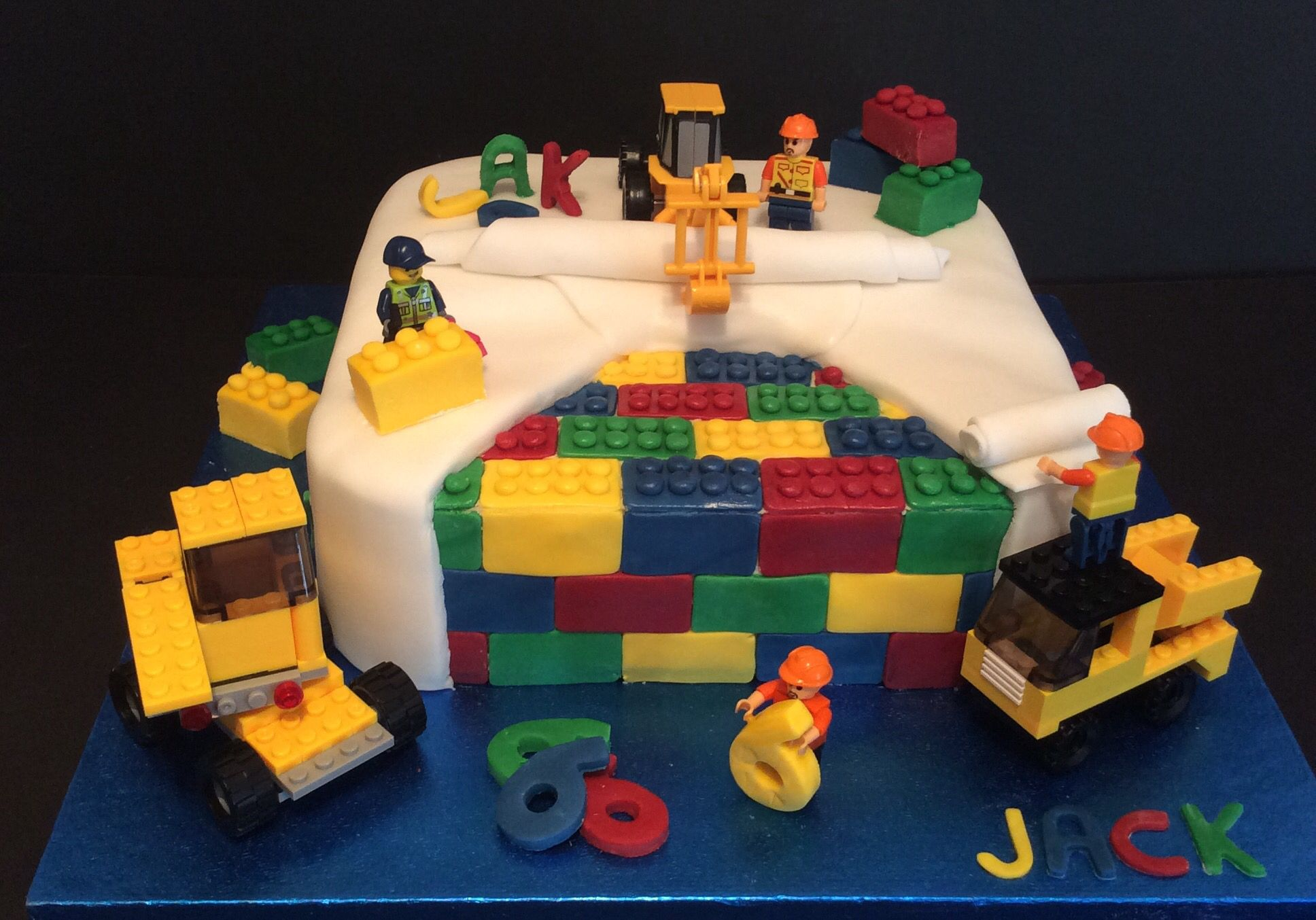 Lego Construction Birthday Cake Cakes Made By Me Pinterest