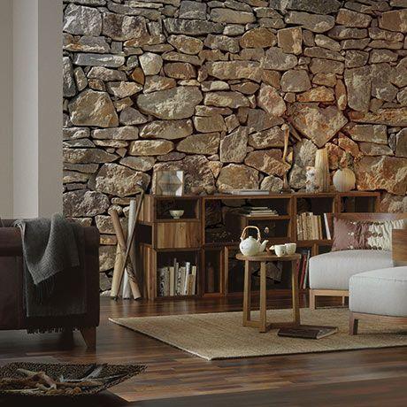 stonewall fototapete alt image three steinwand pinterest steinwand tapeten und wohnzimmer. Black Bedroom Furniture Sets. Home Design Ideas