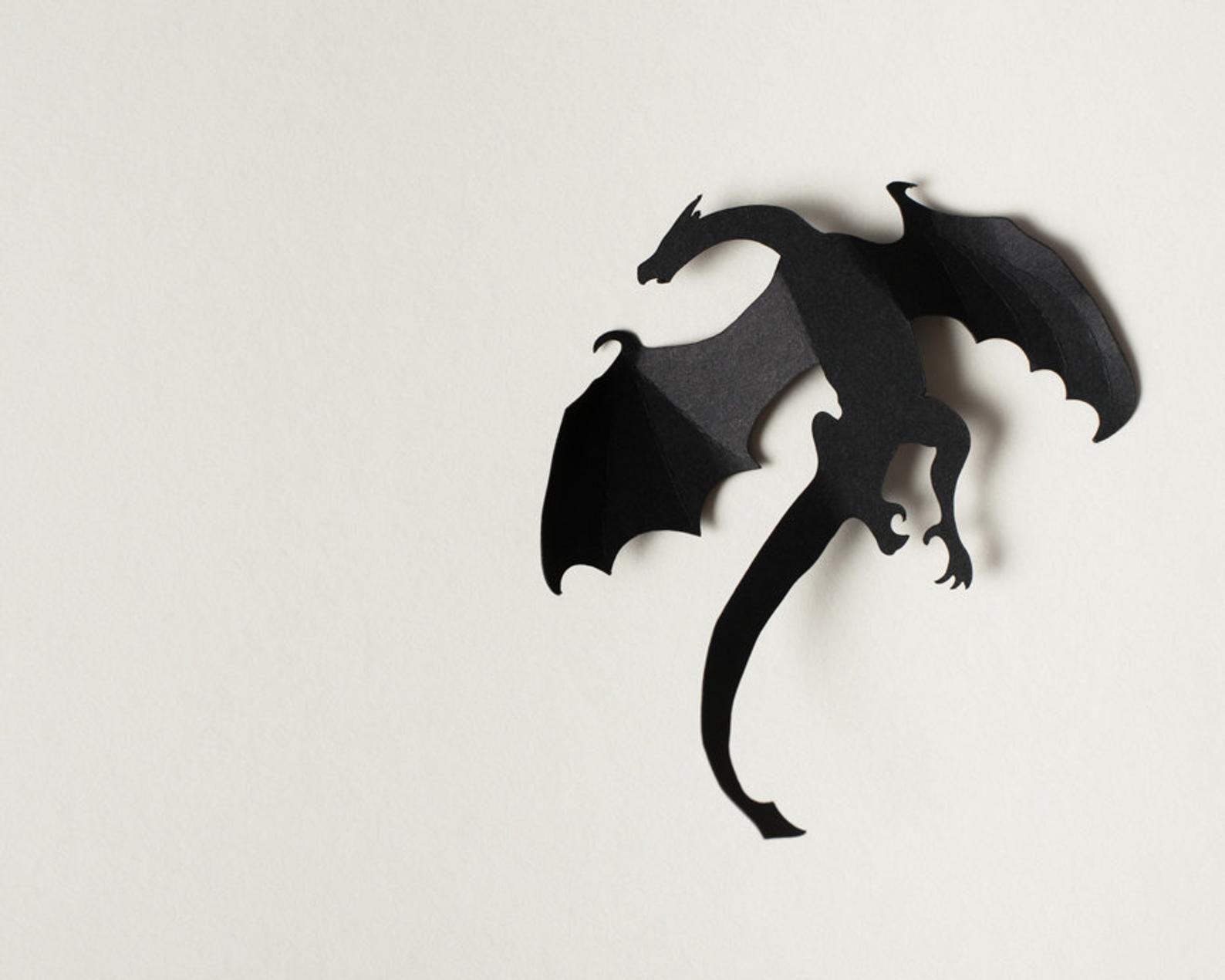 Dragon Mythology Handmade Metal Wall Accent Art Decor