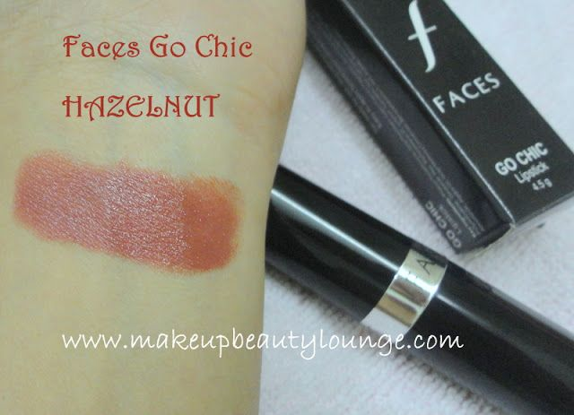 Makeup Beauty Lounge: Faces Go Chic Lipstick Hazelnut Review and Swatch