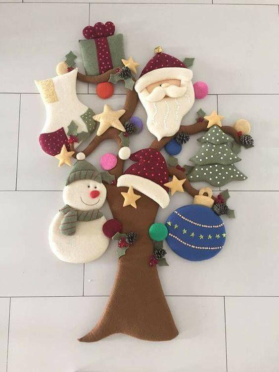 Manualidades De Fieltro Para Navidad Gratis Figuras De Fieltro Navidad Manualidades Adornos Navideños
