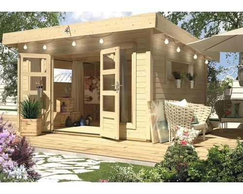 Abri de jardin Karibu She Shed River House 3, 309x309 cm naturel ...