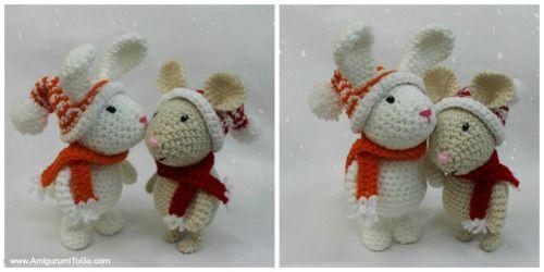 Winter Bunny - Free Crochet Pattern by Sharon Ojala. | amigurumi ...