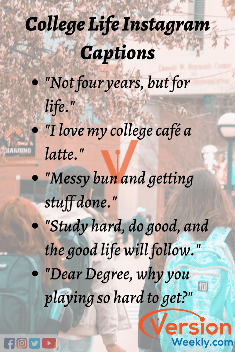 Collegelife Versionweekly Instagram Captions Funny Instagram Captions Instagram Quotes Captions