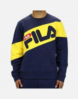 9e996d24e6 Fila Alec Sweatshirt (Navy/Yellow) | OOTD Men in 2019 | Adidas ...