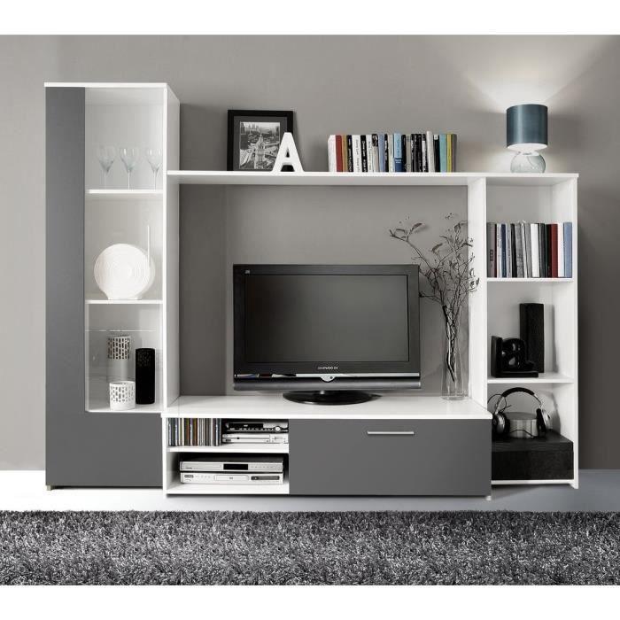 Pour le salon finlandek meuble tv mural for Meuble tv mural 240 cm blanc gris adhara