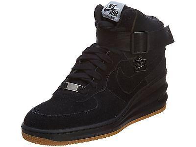 the best attitude fe938 a33c4 Nike Lunar Force 1 Sky Hi Womens 654848-006 Black Wedge Shoes Sneakers Size  6.5
