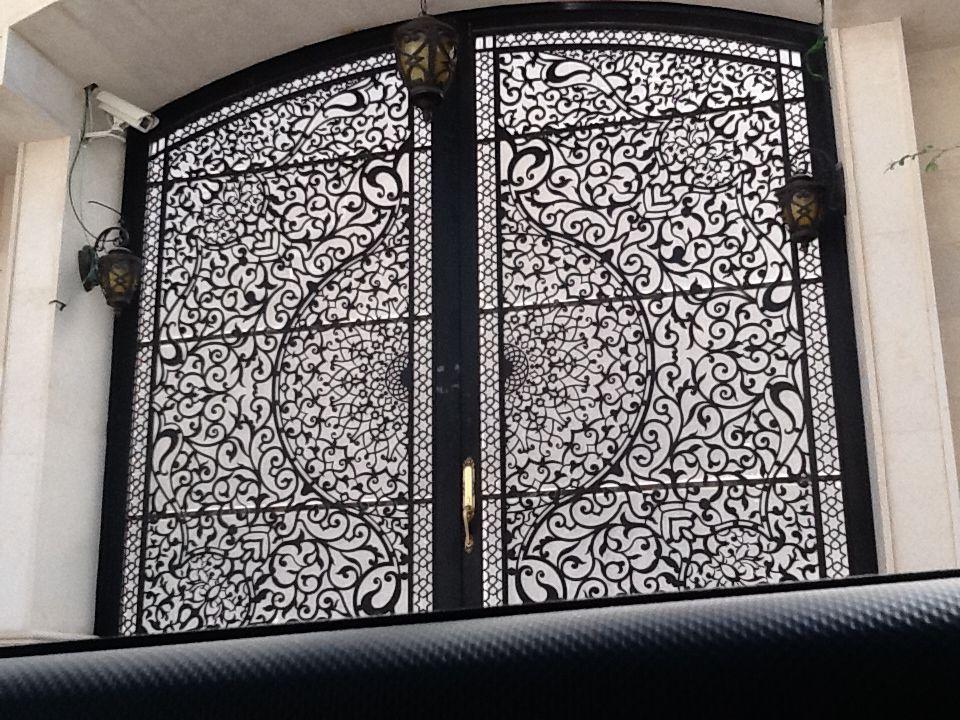 ابواب بوابات ليزر قص ليزر حديد 0530608113 Wooden Door Entrance Iron Doors Main Gate Design